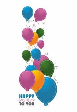 Balony - Happy Birthday