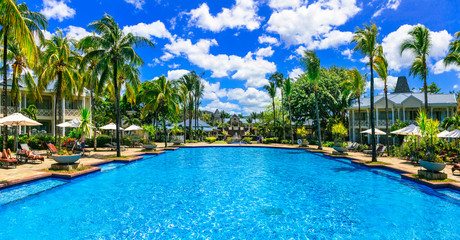 Fototapete - Luxury tropical vacation. Mauritius island
