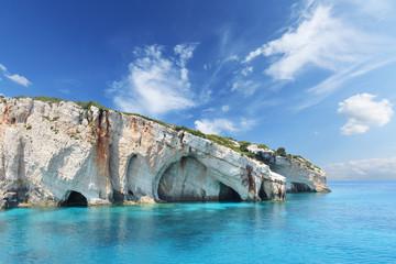 Obraz Blue caves on Zakynthos island - Greece - fototapety do salonu