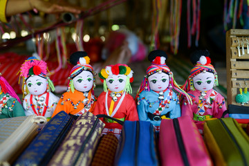 Colorful Tribal doll.Traditional colorful cloth doll.Tribal souvenir.