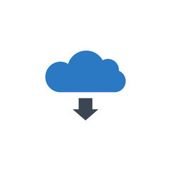 Cloud Storage related vector glyph icon. Isolated on white background. Vector illustration.