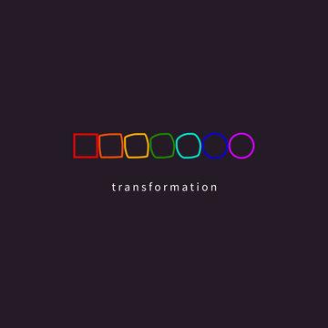 Change, transformation, development icon