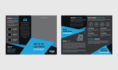 Bifold Brochure Design Template for any type of corporate use