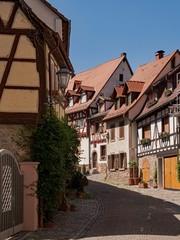 In den Straßen der Altstadt von Weinheim an der Bergstraße in Baden-Württemberg, Deutschland