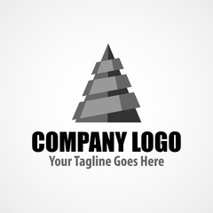 Modern logo template for drilling company