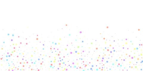 Festive confetti. Celebration stars. Colorful star