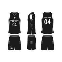 Basketball jersey set template collection.