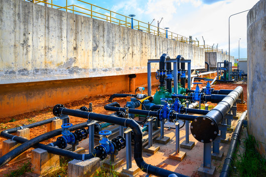 Removing chemical and biological contaminants on sewage treatment plant