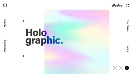 Fototapeta Holographic texture abstract background design, colorful gradient fluid wallpaper, futuristic design backdrop for poster, cover, flyer, music, night club, landing page, brochure, website template obraz