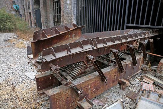 abandoned mechanical equipment