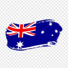 Australia Flag isolated. Flag of Australian Union, brush stroke background. Flag Australia on transparent background. Flag Australian Union for your web site design, logo, app, UI. Stock vector.  EPS1