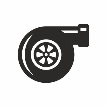 Turbocharger icon isolated on a white background