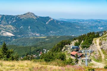Tuinposter Scandinavië Vista dal monte La Nuda Cerreto Laghi