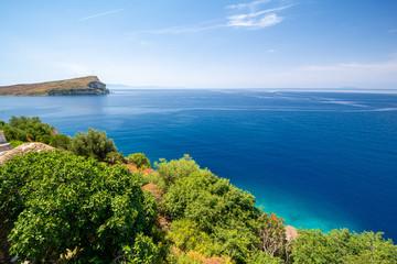 beautiful view on ionian sea in Porto Palermo in Albania