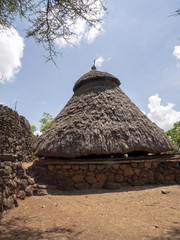 Traditional village of Konso, UNESCO World Heritage Site, Ethiopia