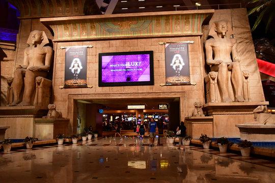 Las Vegas, USA - july 11 2016 :  luxury Luxor casino hotel