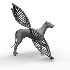 Genetic treatment in veterinary 3d rendering