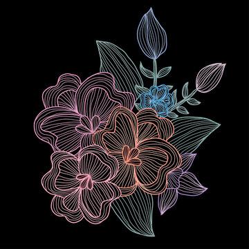hand drawn floral decoration