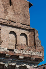 Detail of a Medieval house called the Casa dei Crescenzi built on 1065 in Rome