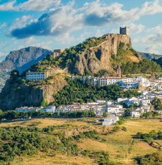 Panoramic sight of the beautiful Zahara de la Sierra, province of Cadiz, Andalusia, Spain.