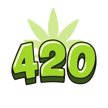 420 with marijuana leaf