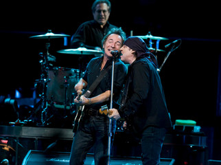 Bruce Springsteen, Steve van Zandt and The E Street band perform at the Globe Arena in Stockholm