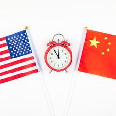 Concept of trade war between USA and China