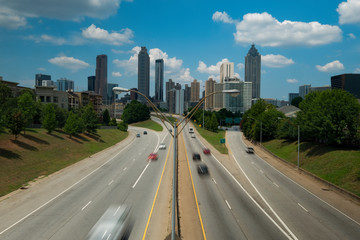 Atlanta Skyline Viewed from Jackson St Bridge