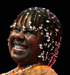 U.S. jazz singer Randy Crawford performs at the 23rd annual Stockholm Jazz Festival