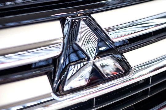 Detail of Mitsubishi car. Mitsubishi Corporation is Japan largest trading company