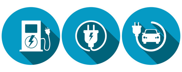 Symbols for electric car charging