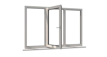 Window. Isolated window. Aluminum window. White window. Pvc window Wall mural