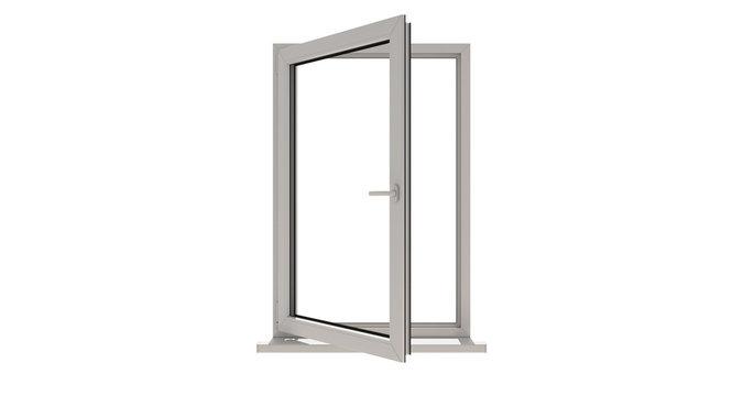 Window. Isolated window. Aluminum window. White window. Pvc window