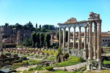 Temple of Vespasian and Titus in Rome