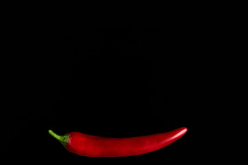 Aluminium Prints Hot chili peppers Seamless pattern with red hot chili peppers. Vegetables abstract background. Food collage, slicing hot red chili peppers Red hot chili peppers on a black background.