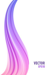 3d realistic vector pink to violet colorful gradient abstract twisted shape of paint brush stroke . Digital art background template