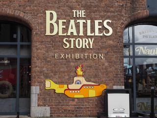 LIVERPOOL, UK - CIRCA JUNE 2016: The Beatles Story sign