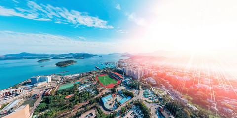 Panorama aerial view of Sai Kung, Hong Kong Fototapete