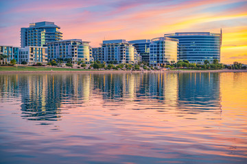 Tempe Town Lake Glistening at Sunset Wall mural