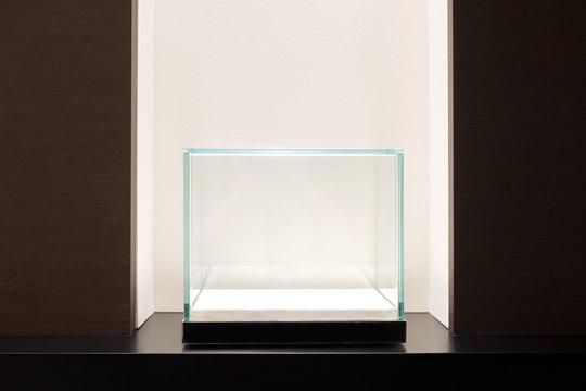 Empty glass showcase display