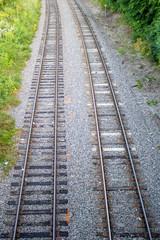 Railway tracks side-by-side