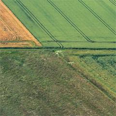 vue aérienne de champs à Randonnai dans l'Orne en France