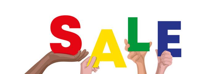 Hände halten Sale