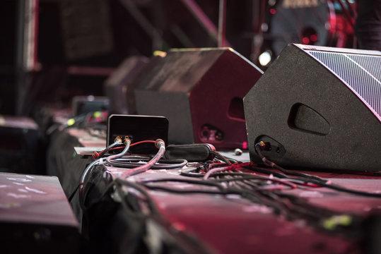 Loudspeaker on the stage