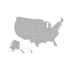 Map of U.S.A - Vector
