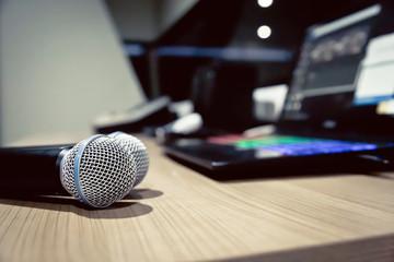 Microphone image at Studio room.