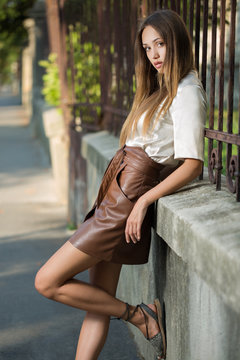 Young brunette model.