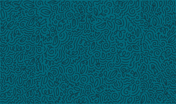 Scattered Geometric Line Shapes. Abstract Background Design. Vector doodle Patterns.