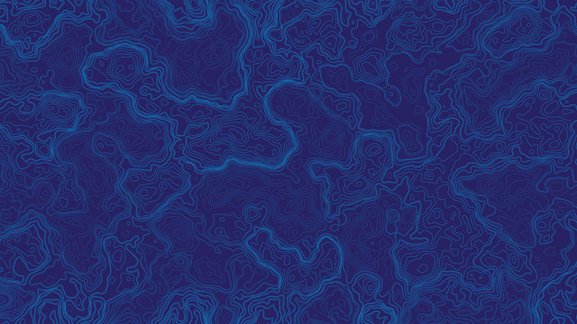 Blue Abstract Topographic Contour Map Background. Ultra High Quality Wallpaper