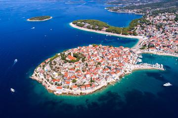 Croatia - Primosten old town aerial view Fototapete